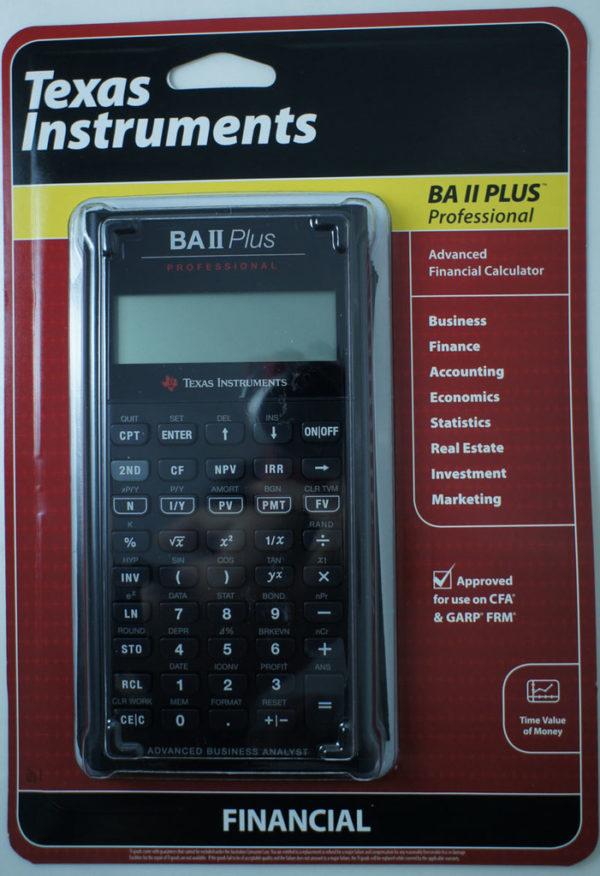 """Финансовый калькулятор BA II Plus Professional Pro """"Texas Instruments"""""""