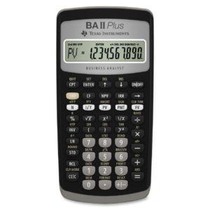 Финансовый калькулятор CFA «Texas Instruments» BA II Plus, разрешен на экзаменах