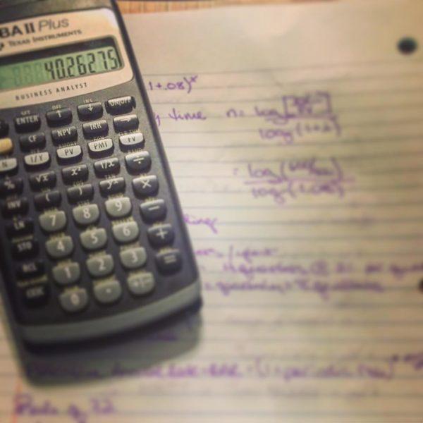 Финансовый калькулятор Texas Instruments BA II Plus б/у в отличном состоянии