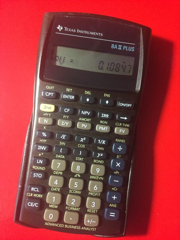 Финансовый калькулятор Texas Instruments BA II Plus б/у модель 2000 г.